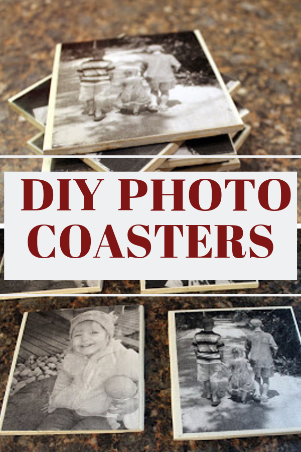 DIY PHOTO Coasters are so easy to make!  Kid friendly, and personalized gifts great for Christmas or any holiday!  #diyphotogifts #diygifts #christmasdiy