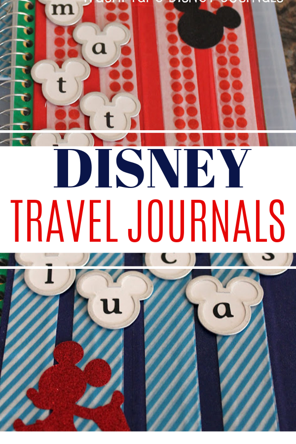 Keeping track of all that Disney magic can take a lot of work! And I want my kids to remember their trips as the years go by. Using Washi Tape can allow you to customize and decorate almost anything! #disneycrafts #traveljournal #diy #craftsforkids #disneytravel #traveljournal