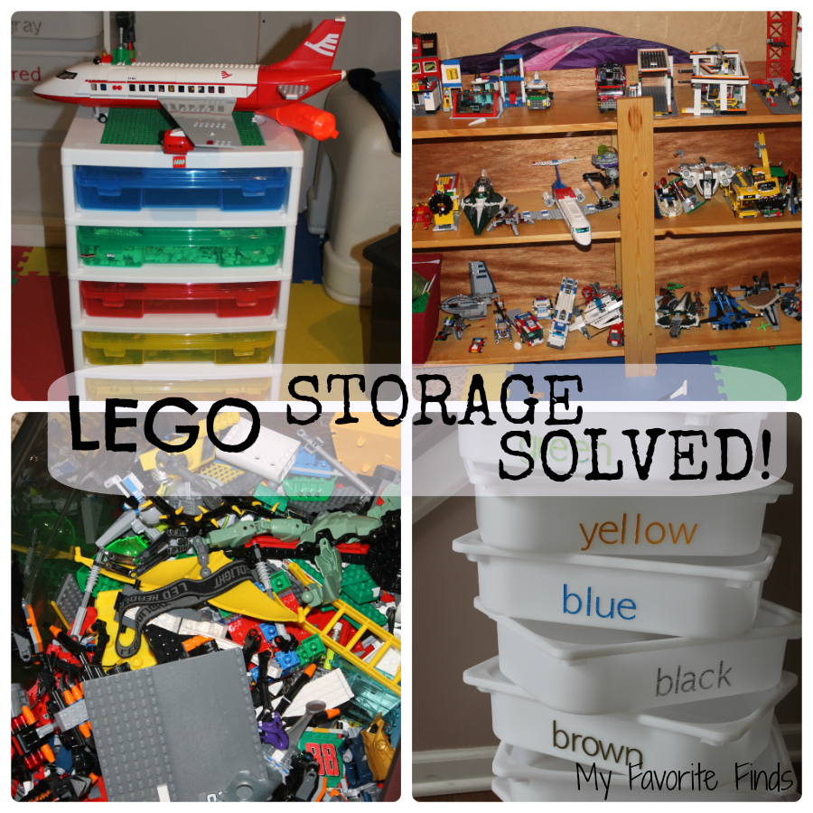 LEGO Storage can be so overwhelming! This is a great idea for getting them organized and easy to find. #LEGOstorage #homeorganization #toystorage