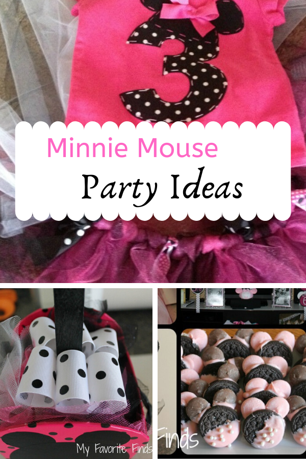 Are you hosting a Minnie Mouse Birthday party? Easy and cute ideas!  #minniemouseparty #minniemouse #birthdayparty