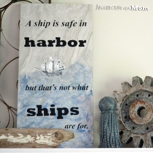 Artwork from a Ship, a Tile and a Quote
