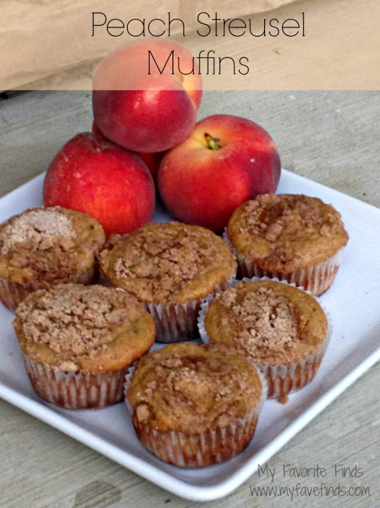 These Peach Streusel Muffins are perfect for summer breakfast! Eat them fresh out of the oven!
