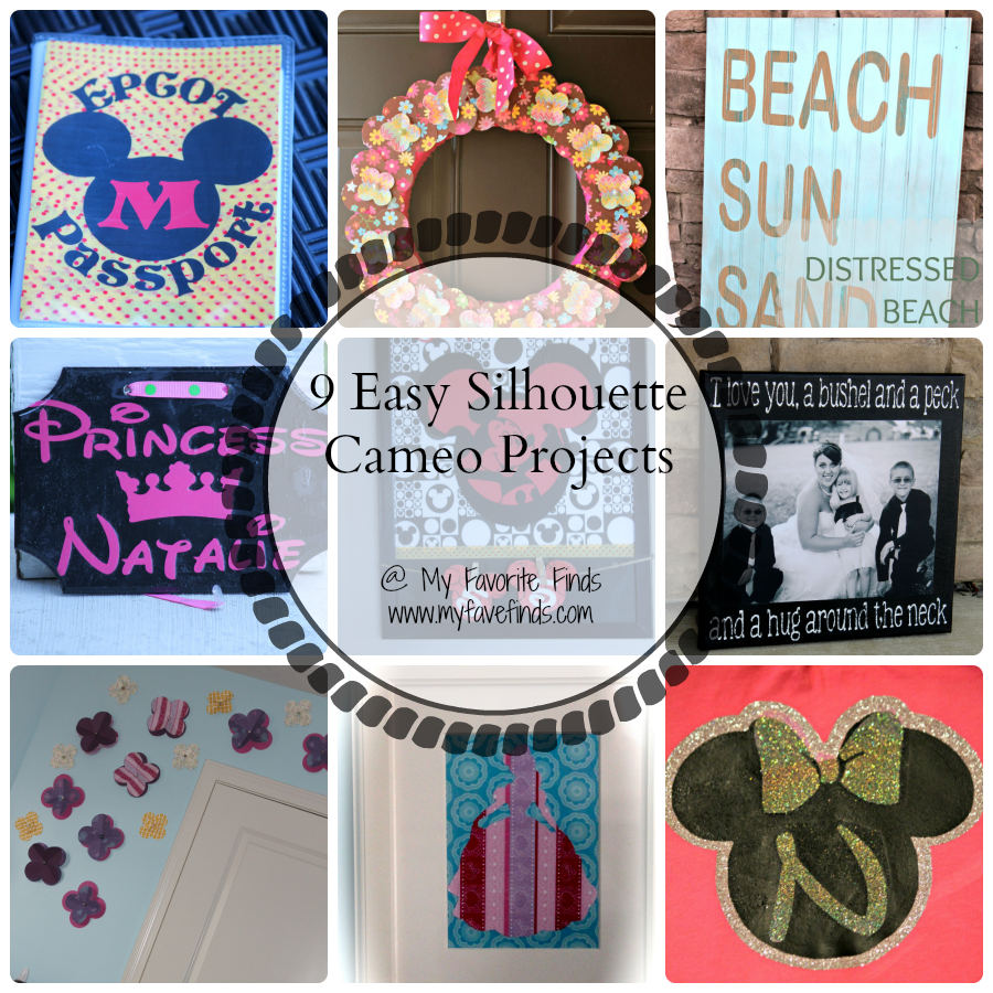 Easy Silhouette Projects you can create at home! Use adhesive vinyl, paper, or heat transfer vinyl. #silhouettecameo #vinylprojects #diy