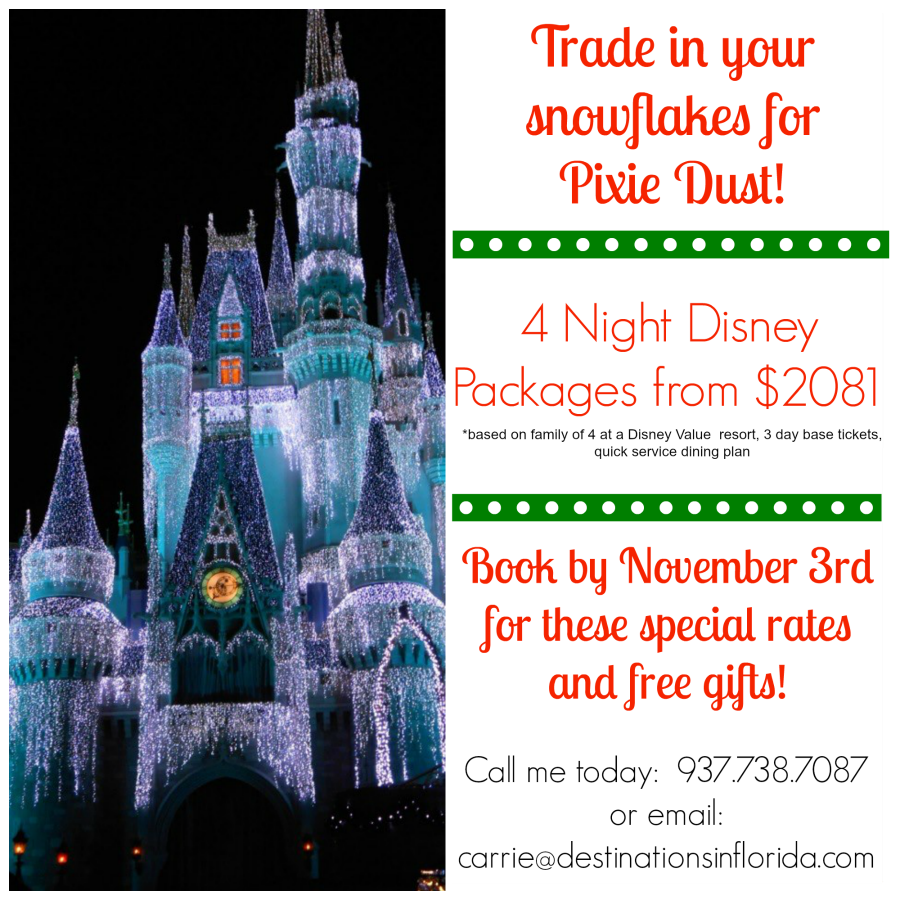 Family of 4 at Disney over the holidays for $2081!