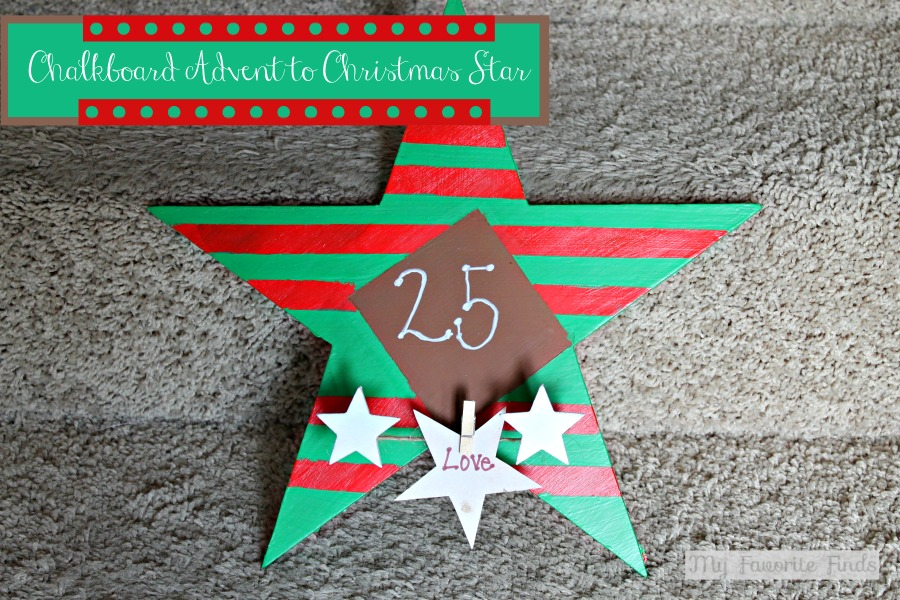 Advent to Christmas Chalkboard Countdown