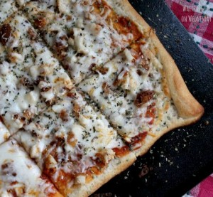 Chicken Parmesan Pizza {Main Dish Contributor}