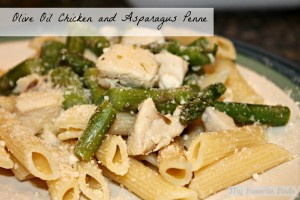Olive Oil Chicken and Asparagus Penne