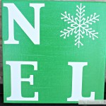 Snowflake NOEL Sign & A $155 Amazon Gift Card Giveaway {December Silhouette Challenge}