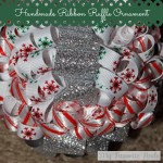 Homemade Ribbon Ruffle Ornament