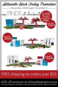 Silhouette Black Friday Event {The BIGGEST Event Ever!}
