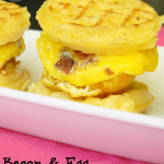 Bacon & Egg Waffle Mini Sandwiches | My Favorite Finds