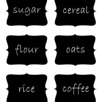 Chalkboard Pantry Labels