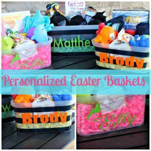 Personalized Easter Baskets with Vinyl