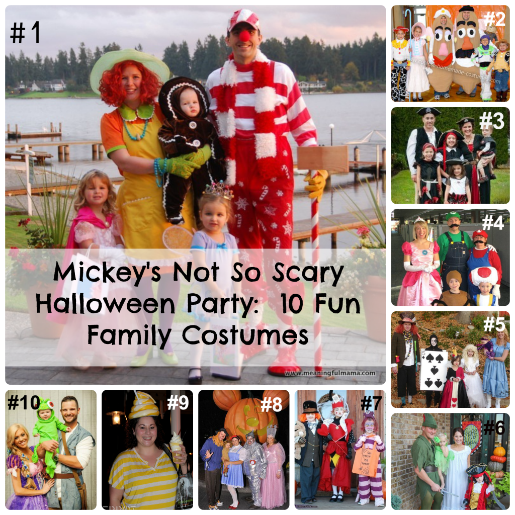 mickeys not so scary halloween party 10 fun family costume ideas a princess and her pirates