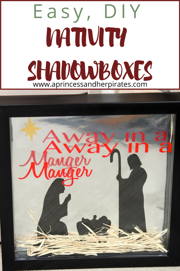 DIY Nativity Shadowboxes
