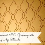 Bathroom Makeover with Cutting Edge Stencils and $50 Giveaway