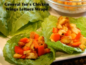 #AD General Tso's Chicken Wings Lettuce Wraps