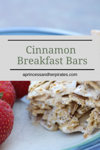 Cinnamon Breakfast Bars are easy to have on hand for quick morning breakfast or an after school treat.