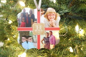 Festive Holiday Ornament Cards with Shutterfly