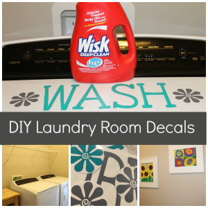 DIY Laundry Room Decals