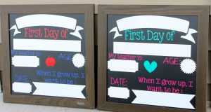 DIY Back to School Sign & Amazon Gift Card Giveaway