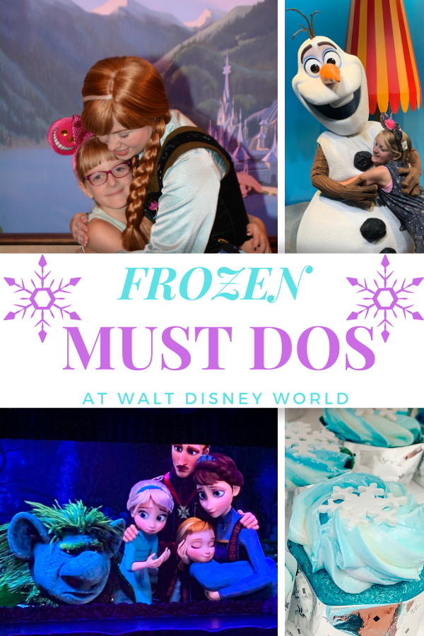 Frozen Must Dos at Walt Disney World Plan your trip to see Anna, Elsa, Olaf, and experience ALL of FROZEN at Walt Disney World.