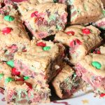 Chocolate Chip Christmas Cookie Bars