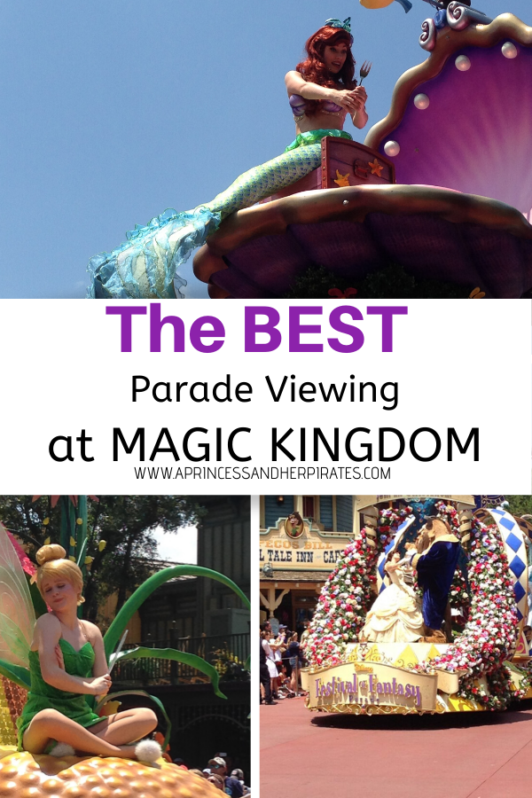 The BEST Parade Viewing at Magic Kingdom to help you plan your day at the park. #magickingdom #disneyparades #disneytraveltips