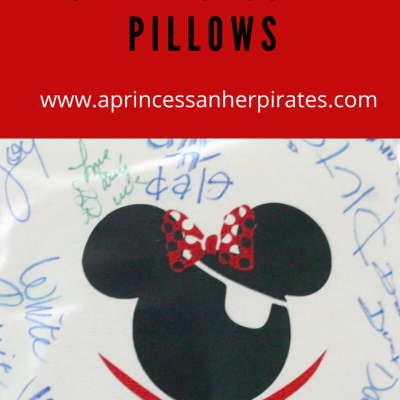 DIY Disney Autograph Pillows