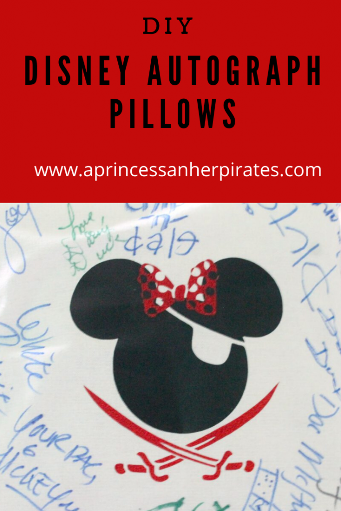 CUTE and easy Disney autograph idea. Pillowcases make an easy way to collect autographs, and your kids can relive the memories everyday! #disneyautographs #autographideas #disneydiy #disneycrafts