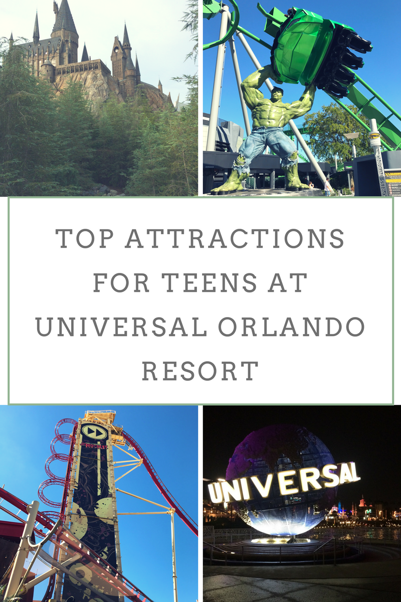 Top Attractions for Teens at Universal Orlando Resort