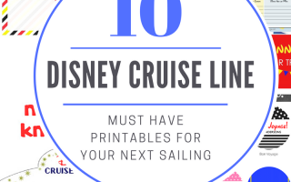 Must Have Disney Cruise Line Printables