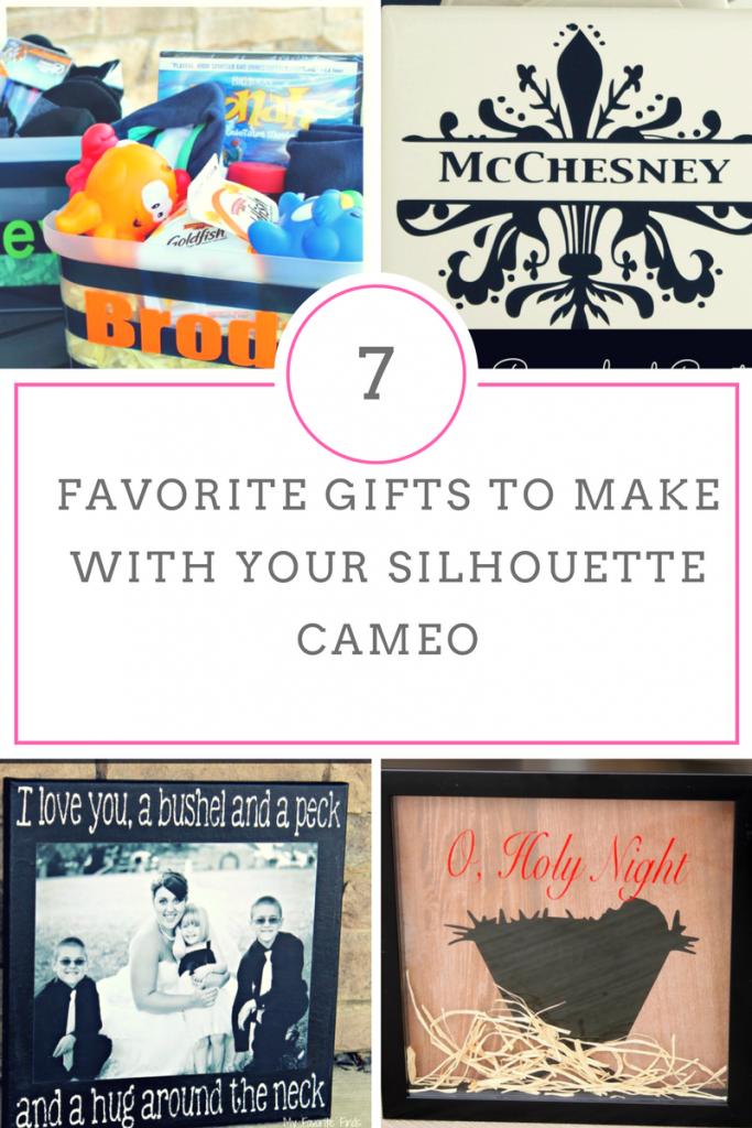 A collection of easy, personalized gifs to create with a Silhouette Cameo.  #crafts #diygifts #vinylprojects