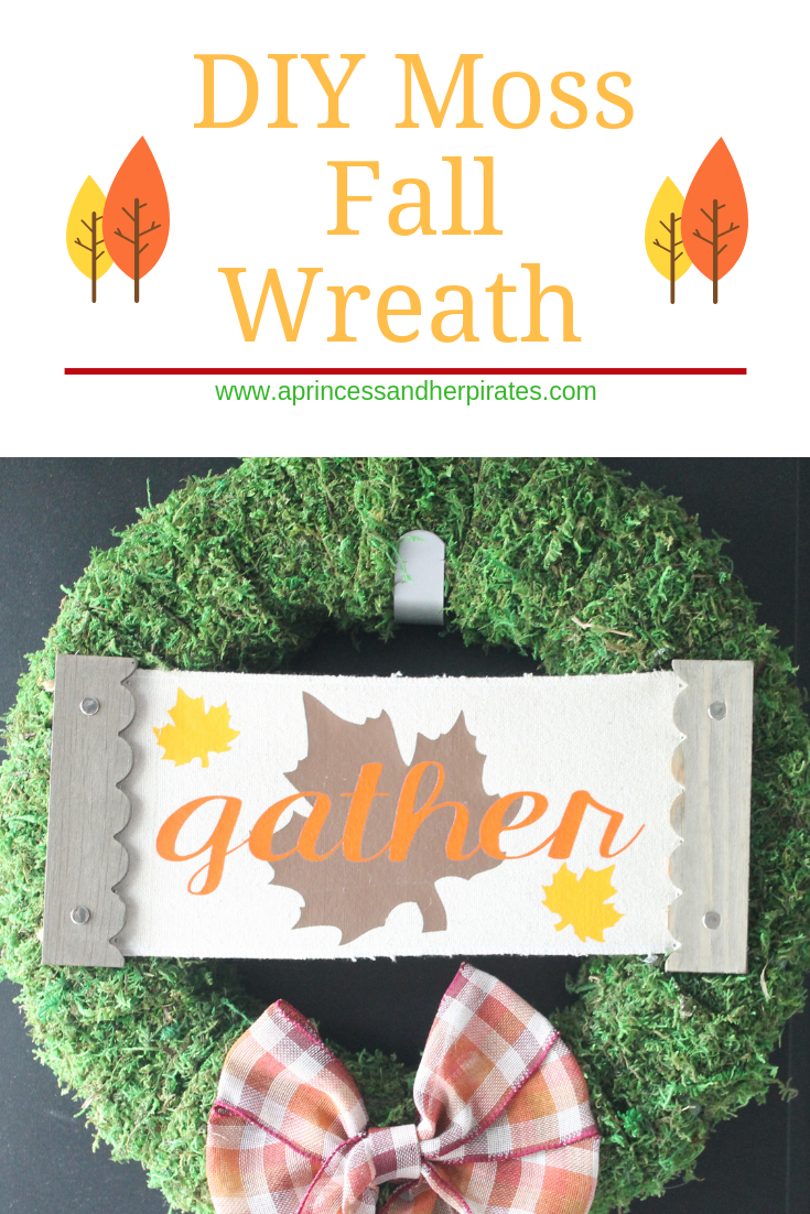 DIY Fall Moss Wreath