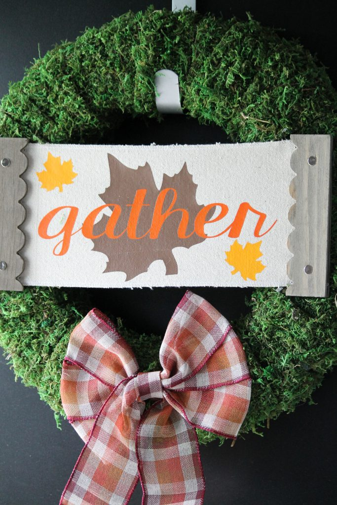 DIY Moss Fall Wreath