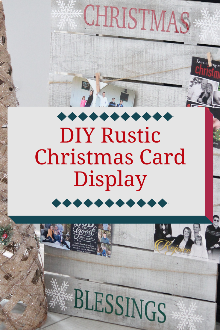 Rustic Christmas Card Display