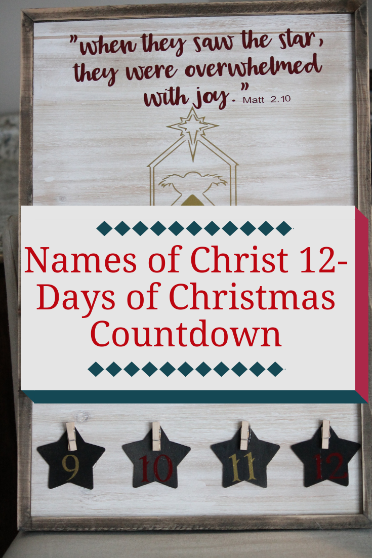 Names of Christ Christmas Countdown