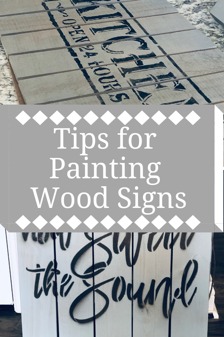 Tips for Painting Wood Signs