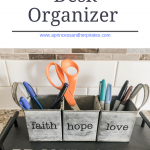 DIY Office Desk Organizer