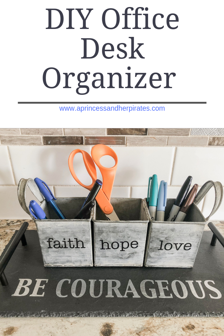 Office Desk Organizer ~ Easy Father's Day Gift