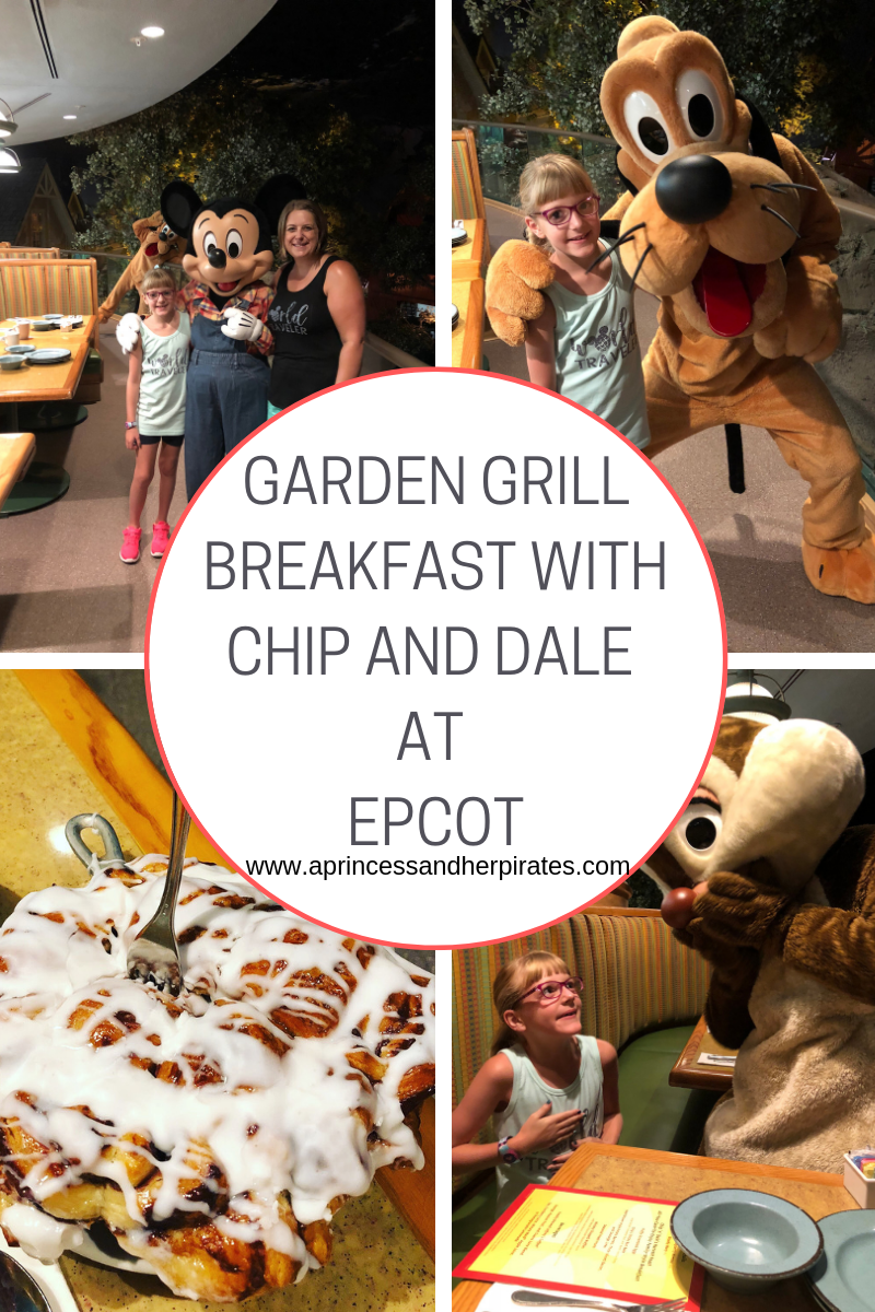 Garden Grill Breakfast with Chip and Dale at EPCOT