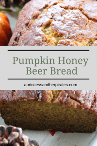 Pumpkin Honey Beer Bread is amazing for fall!