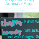 Create an easy laptop decal, and gain some tips for using adhesive vinyl