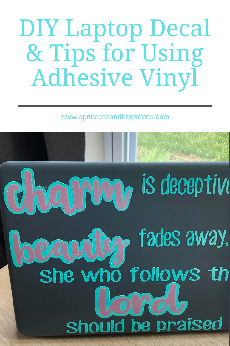 How to Successfully Use Adhesive Vinyl & DIY Laptop Decal