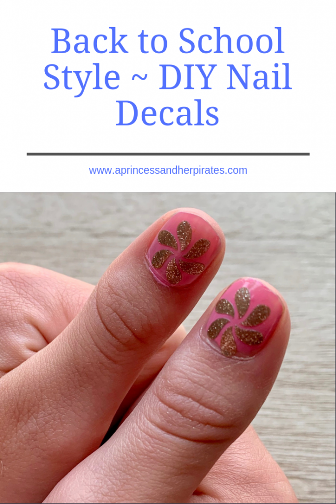 DIY Nail Decals using your Silhouette Cameo and metallic adhesive vinyl.