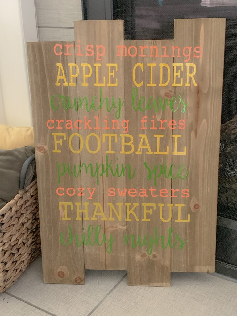 Create a DIY multi-font sign for fall! So easy! Learn how to import fonts into your design software to make a custom design. #fonts #diy #fallsigns #silhouette #vinyl