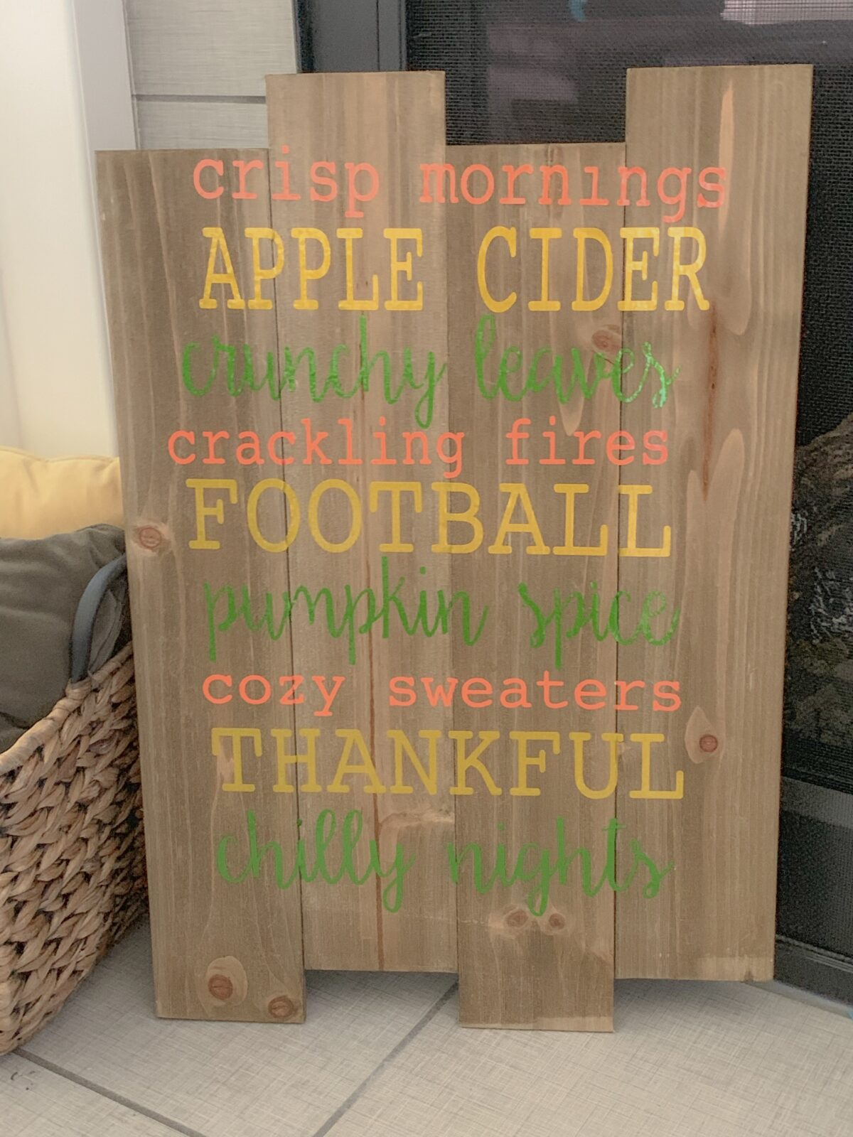 DIY Fall Sign & How to Install New Fonts into Your Silhouette Software