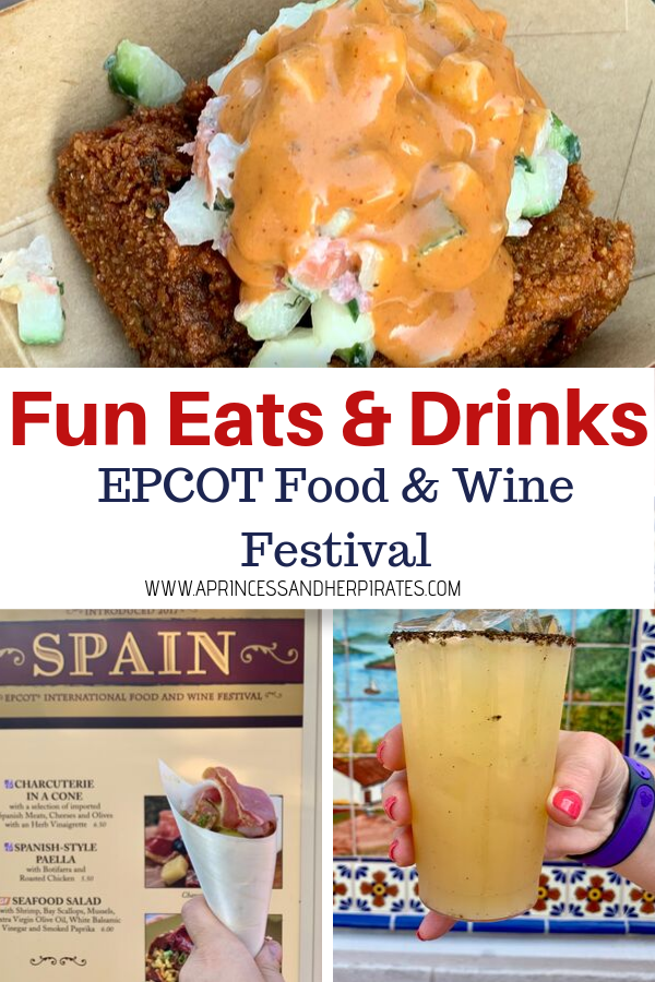 Fun foods to eat and drinks to drink at the EPCOT Food and Wine Festival #tasteepcot #foodandwine #epcot #disneyfood
