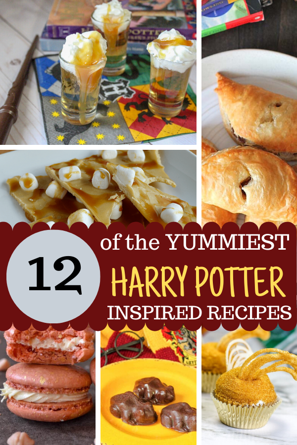 12 of the BEST Harry Potter Inspired recipes. Butterbeer, chcolate frogs, cupcakes, even cookies! So good! #harrypotterrecipes #harrypotterpartyideas #wwohp
