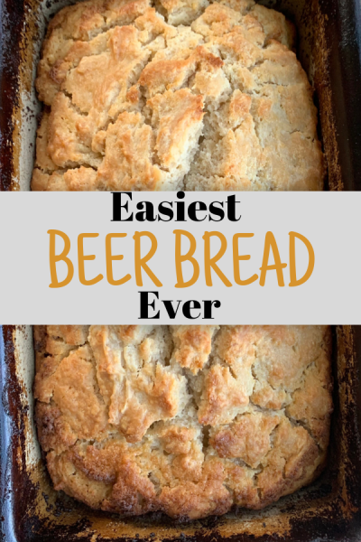 With only 6 ingredients, this Beer Bread is perfect for fall! Pairs great with soups and salads. #beerbread #dinnerrecipes #breadrecipes #menuplanning